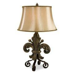 Great Fleur De Lis Lamp