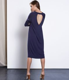 This Open Back Sport Dress is super luxe, super soft, super comfy, and drapes perfectly off the body and creates that effortlessly casual look we're all going. It's made from our best selling luxe Beechwood fabric that we custom milled ourselves right here in LA, bringing luxury craftsmanship to a whole new level. It's double lined in the back and perfectly opaque, so you never have to worry about anything showing through.   <br> <br> Purpose is woven through every part of our process…