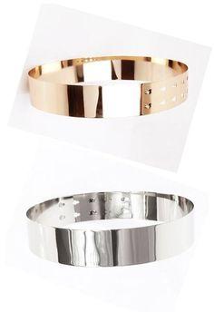Ceinture métallique Kir Gold Metal Belt, Dog Bowls, Belts, Gucci, Detail, Clothing, Style, Vestidos, Cute Skirts