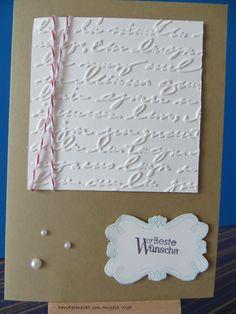 IN{K}SPIRE_me Challenge #154:  Stampin up Papier in Kandiszucker und VanillePur / Marker in Pflaumenblau und Himmelblau / Kordel in Chili / Stempelset Alles im Rahmen und Perfekte Pärchen