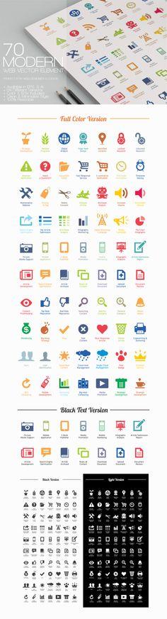 70 Modern Web Vector...