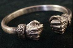 Handcrafted Power Fist Silver Bracelet