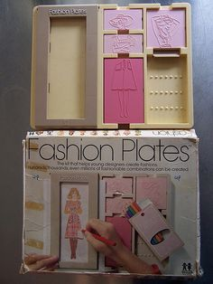 Fashion Plates - I spent hours and hours and hours making outfits with this toy. Great Memories!