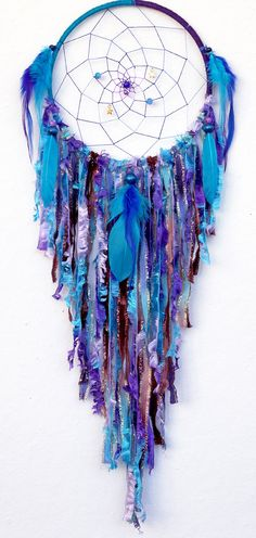 Cosmic Galaxy Large Native Style Woven Dream Catcher by eenk
