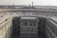 Vespa Racing on the roof of Fiat factory Turin, Italy.  how awesome is this!