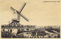 """Antwerpen Linkeroever, de molen waarrond in de jaren 1930 de """"toverrivier"""" was aangelegd."""