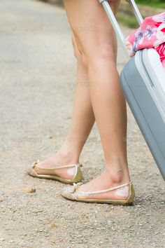 Woman dragging a suitcase ...  asia, asian, attractive, beautiful, beauty, body, business, fashion, full, happy, isolated, lady, luggage, model, modern, move, people, portrait, suitcase, summer, teenagers, tourist, travel, traveler, white, woman, young