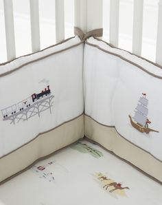 love this adventure crib set! trains, ships, airplanes, rockets, and submarines!