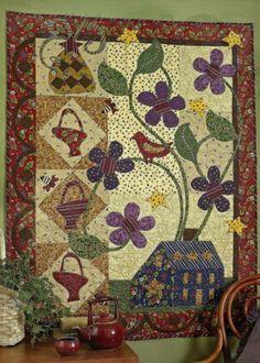 Applique Berry Hill Quilts Minis Butterfly Bunny Baskets Birds Oak Leaf - Pat Sloan