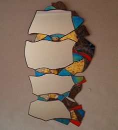 Stained glass, Mirror- fish, tiffany tech.,2010, Seemoon