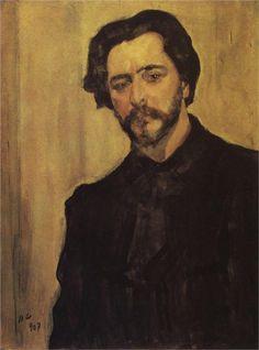 Portrait of the Writer Leonid Andreev, 1907  Valentin Serov