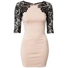 Lace Sleeve Dress, Lipsy