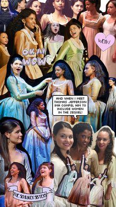I'm listening to The Schuyler Sisters rn Hamilton Broadway, Hamilton Musical, Hamilton Act 1, Hamilton Puns, Theatre Nerds, Musical Theatre, Waitress Musical, Hamilton Schuyler Sisters, Hamilton Background