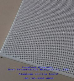 White Sound Absorbing Fireproof Aluminum Ceiling Panels On Made In China