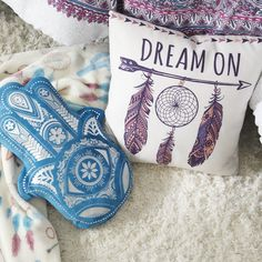 Tap to shop! // Make your dorm room extra comfy with decorative pillows to add a chill vibe.