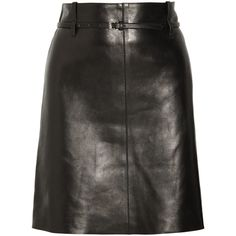 Dominique Plus Size Leather Skirt (6,665 MXN) ❤ liked on Polyvore featuring skirts, leather skirt, long skirts, womens plus size skirts, long leather skirt and plus size skirts
