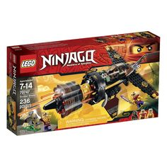 LEGO NINJAGO Boulder Blaster (673419229647) Cole has been imprisoned in the island caves during the Tournament of Elements. Place him in the cockpit of the super Boulder Blaster, grab the retractable handle to take off and bust out of there. Cole will need all his elemental powers to get past Zugu and Sleven who are armed and ready for battle. Turn the wheel to unleash the hyper-powerful automatic 8-missile NINJAGO rapid shooter and smash their Anacondrai outpost to smithereens! Includes 3…