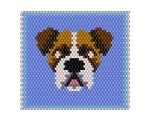 Boxer – Energetic and Funny Fuse Beads, Pearler Beads, Peyote Patterns, Beading Patterns, Beaded Brooch, Beaded Rings, Bead Crochet, Dog Crochet, Beaded Banners