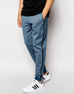 ASOS Skinny Joggers In Heavyweight With Contrast Stripe