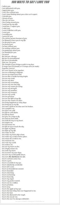 I want someone to say all of these to me *v*