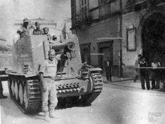 """Panzer DB on Twitter: """"A Geschützwagen 38 für s.I.G. 33/1 (Sf.) pictured in Italy in 1943."""