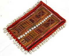 VINTAGE RABARI FINE HAND EMBROIDERY COWRIES OLD ETHNIC TRIBAL TASSEL PATCHES - $26.00 - July 7, 2016