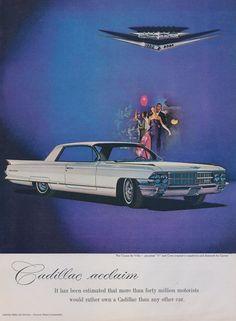 1962 Cadillac Coupe de Ville Car Ad Vintage by AdVintageCom