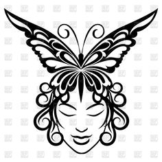 ... and butterfly tattoo template download royalty free vector clipart