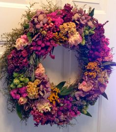 Dried flower wreath/ Dried floral wreath$64