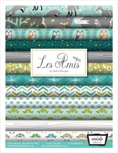 Les Amis Fabric Collection by Patty Sloniger for Michael Miller - Dusk colorway