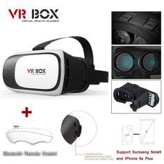 4f4f497b348 New Google Cardboard 2nd Gen VR BOX Virtual Reality 3D Glasses Bluetooth  Control Vr Box