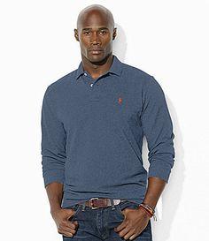 99d0179b Polo Ralph Lauren Big and Tall ClassicFit LongSleeved Cotton Mesh Polo Shirt  #Dillards Dillards,