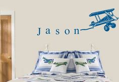 Hey, I found this really awesome Etsy listing at http://www.etsy.com/listing/110585718/personalized-custom-name-airplane-boys