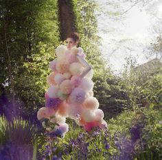 and pom poms The Balloon, Ethereal, Enchanted, Balloons, Clouds, Pom Poms, Sunlight, Fairies, Nature