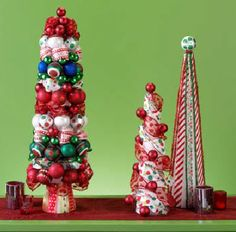 FloraCraft™ Holiday Trimmed Trees by Dondi Richardson #christmas #craft