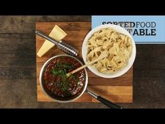 SORTED - braised beef with pappardelle RM- this page has great instructional videos. plus the have british accents. and their food it always delicious, and simple! Pasta With Wild Mushrooms, Veal Recipes, Slow Cooked Beef, Vegetable Puree, Braised Beef, Fresh Pasta, Homemade Pasta, Just Cooking, Macaroni And Cheese