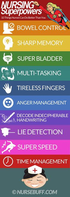 Nursing Superpowers: 18 Things Nurses Can Do Better Than You - http://www.nursebuff.com/2014/06/nursing-superpowers/