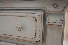 Annie Sloan Chalk Paint- Paris Grey, Old White, Dark Wax