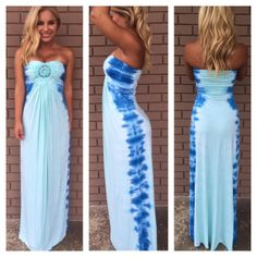 Marged Tie Dye Maxi Dress Girl/Woman outfit