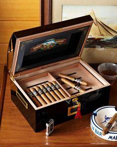 Cigar Band Black Humidor