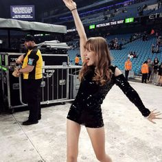 PHOTO: The 20-year-old Taylor Swift fan dancing at one of the singers shows.