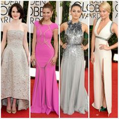 Favorite 2014 #GoldenGlobes red carpet gowns. All wedding-worthy!