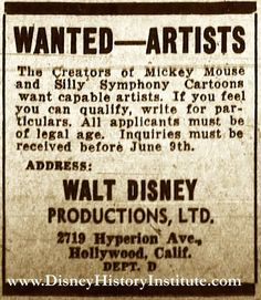 """From the Disney History Institute's Classified Ad Dept. ~ From the """"Oakland Tribune"""" (Oakland, California), June 5, 1935."""