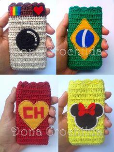 Lindo porta-celular em crochê!  Escolha o modelo, o tamanho e faça seu pedido!  Produtos feitos com muito amor e delicadeza!    OBS: envie-nos as dimensões do seu aparelho caso as dimensões descritas no produto não estejam adequadas.