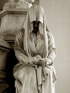 """A pleurant (French) or """"weeper"""" (in English) was a statue that was meant to mourn eternally at the grave o"""