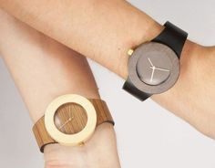 Gorgeous set of minimalist watches made from reclaimed lumber