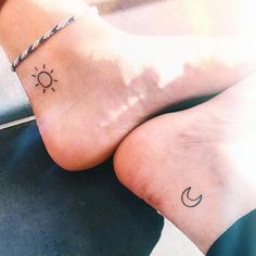 Tiny Sun and Moon Tattoo More