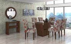 Sala de jantar fiorella com 6 cadeiras