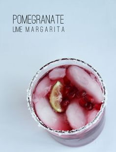 Sip it :: Pomegranate Lime Margarita | Thoughtfully Simple