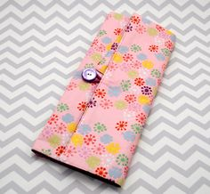 Circular Knitting Needle Case - Pink, Purple and Mutlicolor Dots and Sparkles Cotton. $48.00, via Etsy.